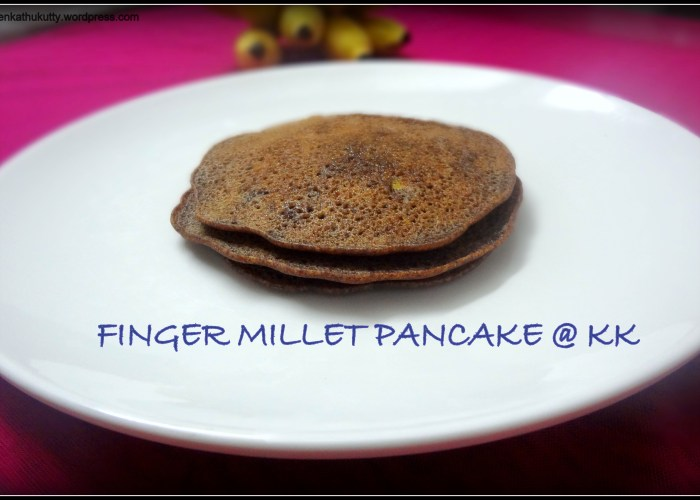 finger millet pancake