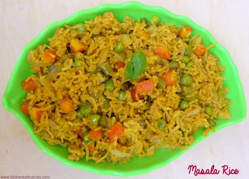 Masala Rice|Masala Baath|Masala Sadham|Spiced Rice