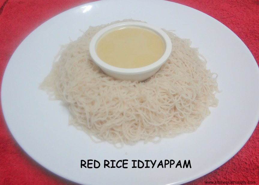 Red Rice String Hoppers|Sigappu Arisi Idiyappam