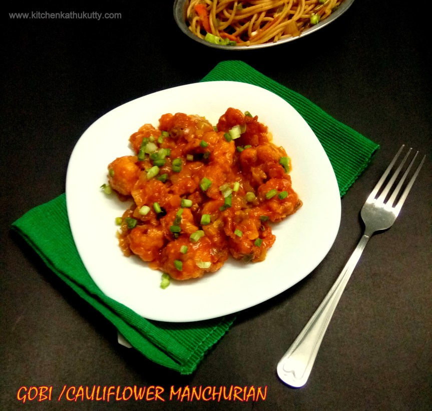 Gobi Manchurian Recipe-Dry Version