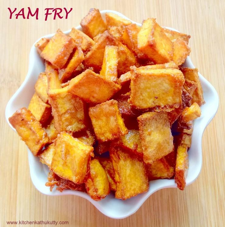 elephant yam(senai kilangu) fry