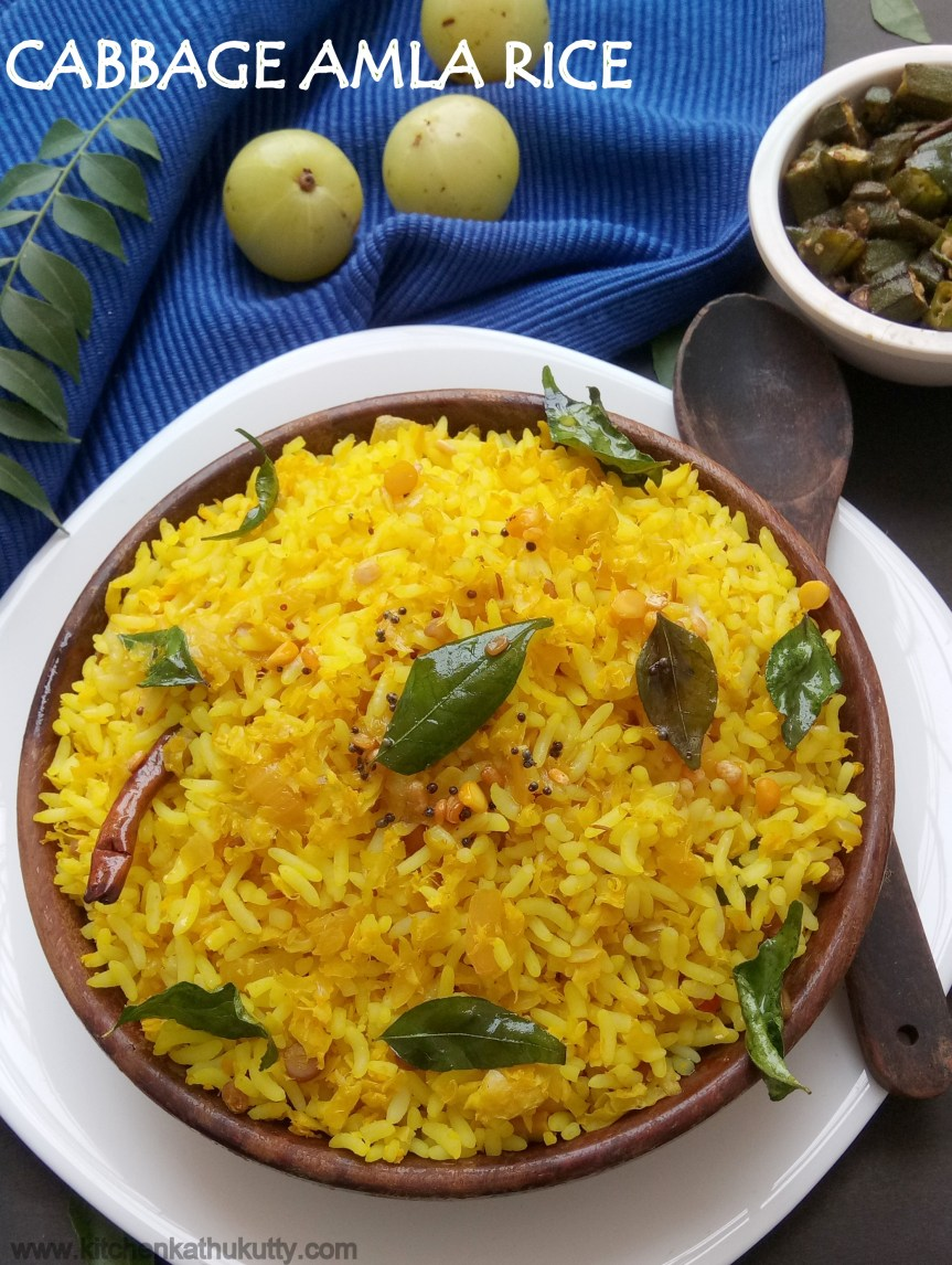 Cabbage Amla Rice|Cabbage Gooseberry Rice