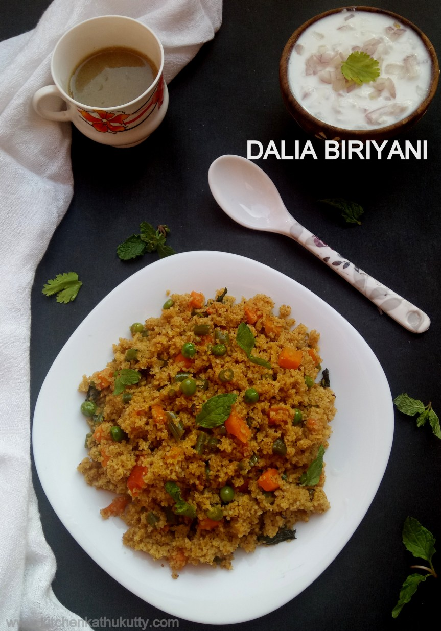 Dalia Biriyani| Broken Wheat Biriyani|Godhumai Rava Biriyani|Dalia Recipes-Broken Wheat for babies