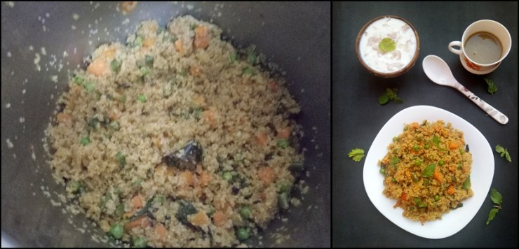 Vegetable Dalia Biryani or Broken Wheat Biriyani