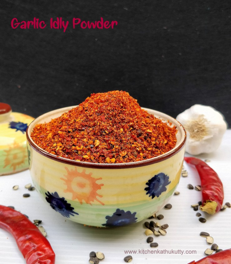 Garlic Podi Poondu Idly Powder Recipe