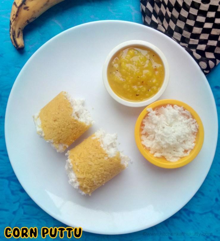 Corn Puttu Recipe