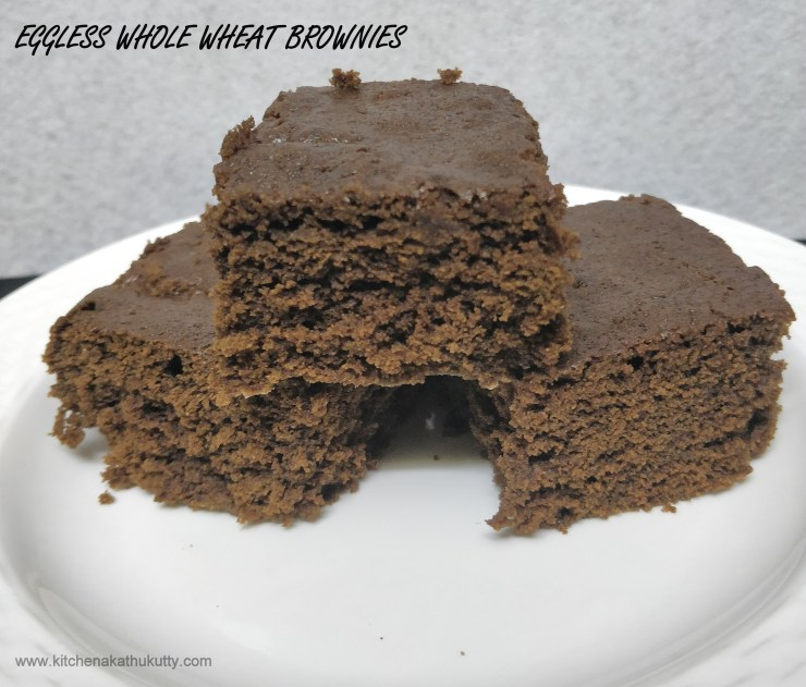 Eggless Whole Wheat Chocolate Brownie