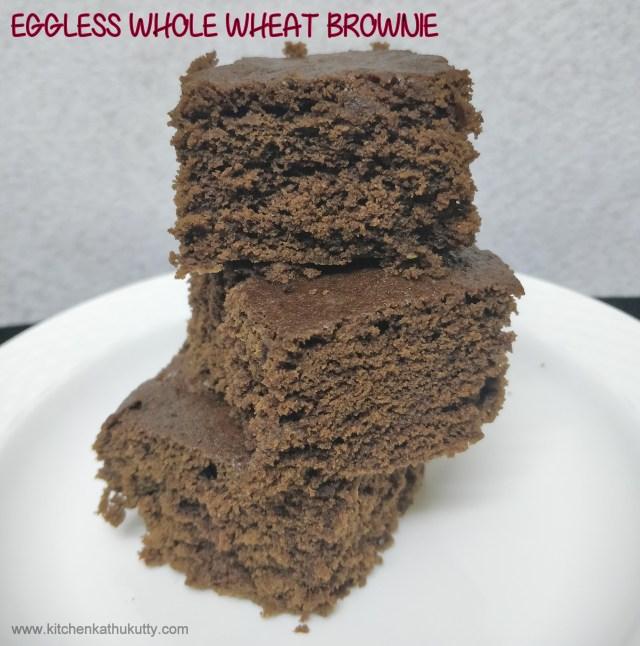 eggless whole wheat brownies