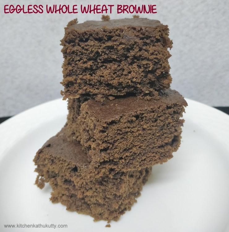 eggless whole wheat brownies