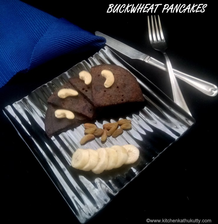 eggless buckwheat pancake recipe