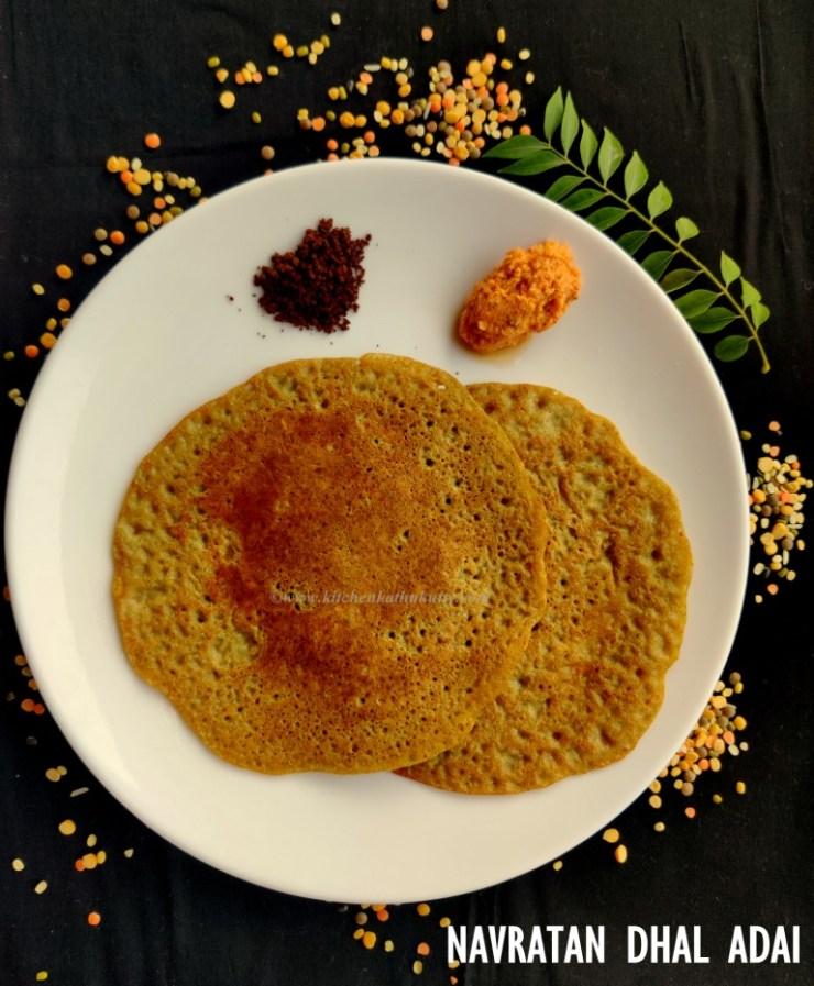 Curry Leaves Navratan Dhal Adai
