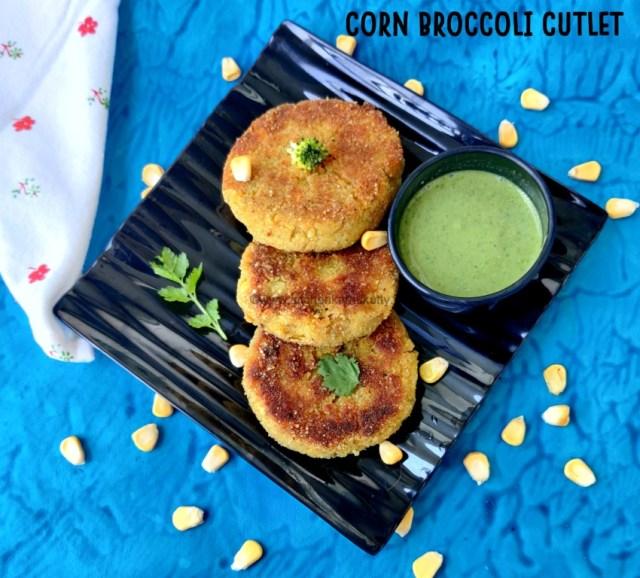 broccoli corn cutlet recipe