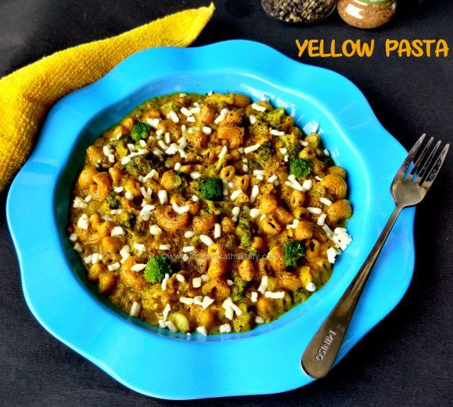 Yellow sauce pasta