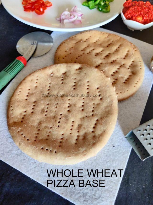 whole wheat pizza base recipe