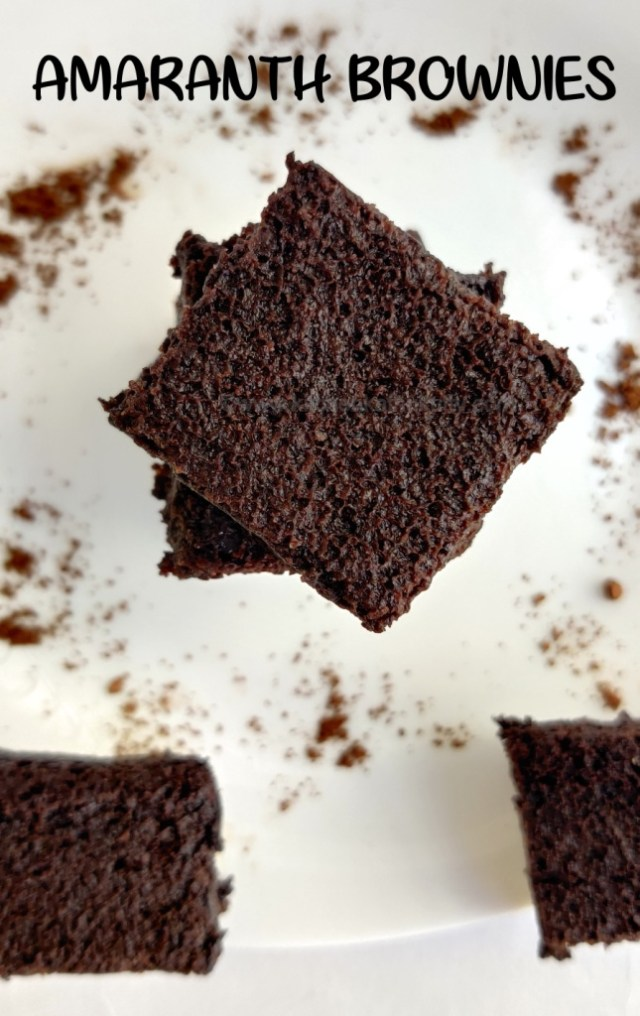 Amaranth brownies