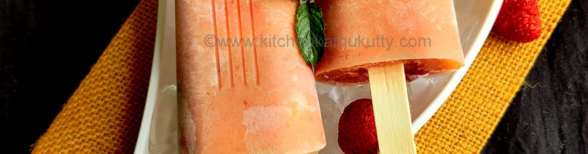 Strawberry Custard Popsicle recipe