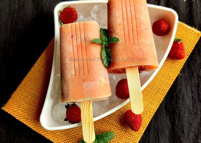 Strawberry Custard Popsicle recipe