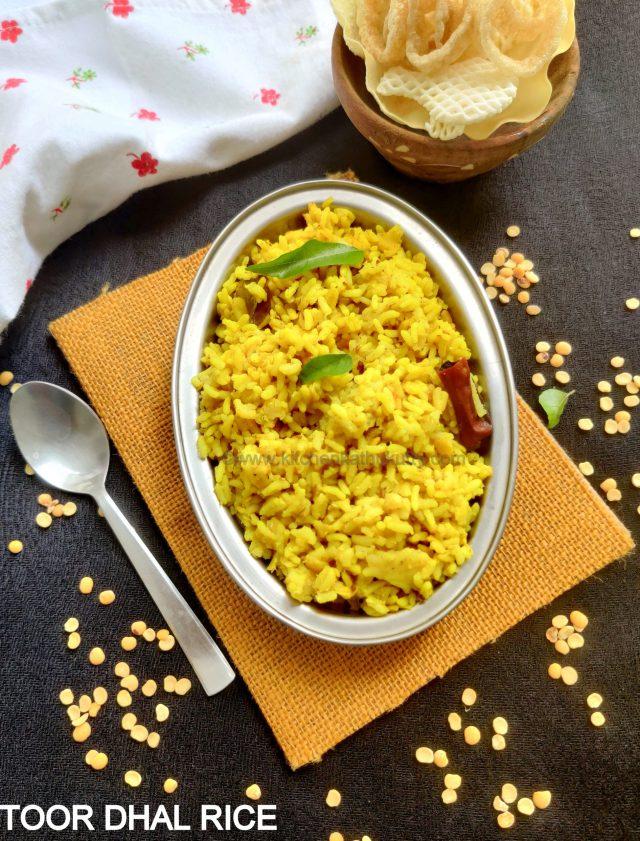 Thuvaram Paruppu Sadham Recipe