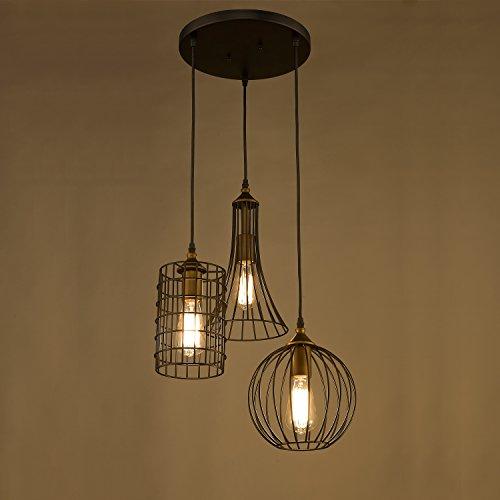 Lights Island Chandelier Wire Cage Pendant Light Kitchen Lighting