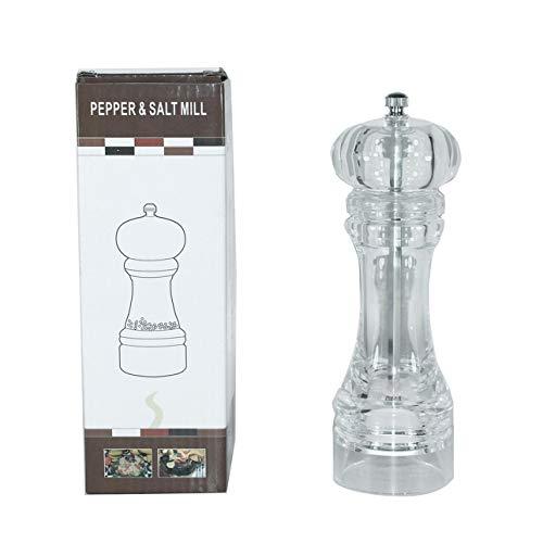 Liobaba Acrylic Manual Pepper Grinder Salt Spices Mill Shaker Transparent Milling Cutter Machine Transparent Grinding Tool Milling