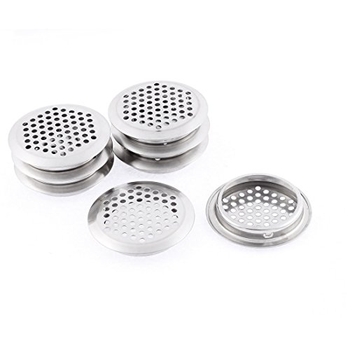 Uxcell Stainless Steel Bathroom Sink Strainer Drainer Stopper 64mm Dia 8 Pcs
