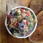 Multicolor Chicken-Potato-Vegetable Salad