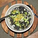 Black Bean Spaghetti With Lemon And Jalapeño