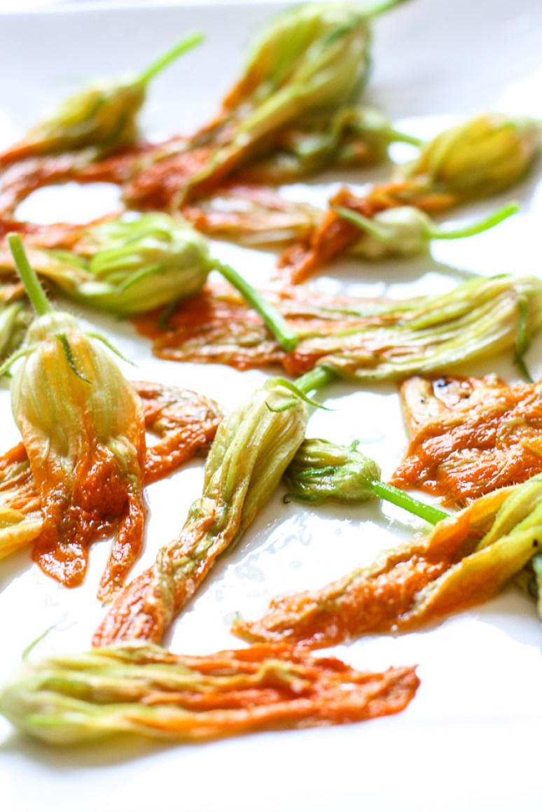 sauteed squash blossoms