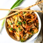 vegetable noodle lo mein