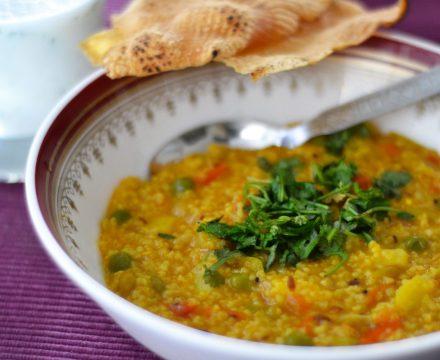 Masala Dalia and Chaas – a loaded breakfast!