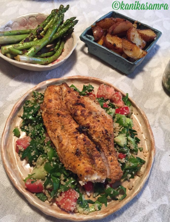 Blackened Tilapia with Couscous Salad