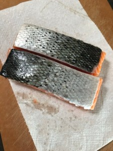 6 oz salmon filets skin side up
