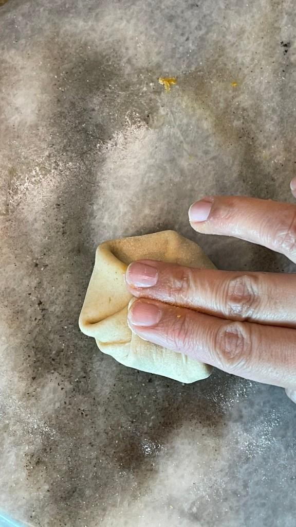 Besan Paratha potli style fold