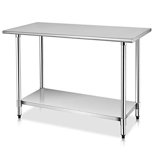 "24/"" x 48/"" Stainless Steel Work Prep Table with Backsplash Kitchen Restaurant New"