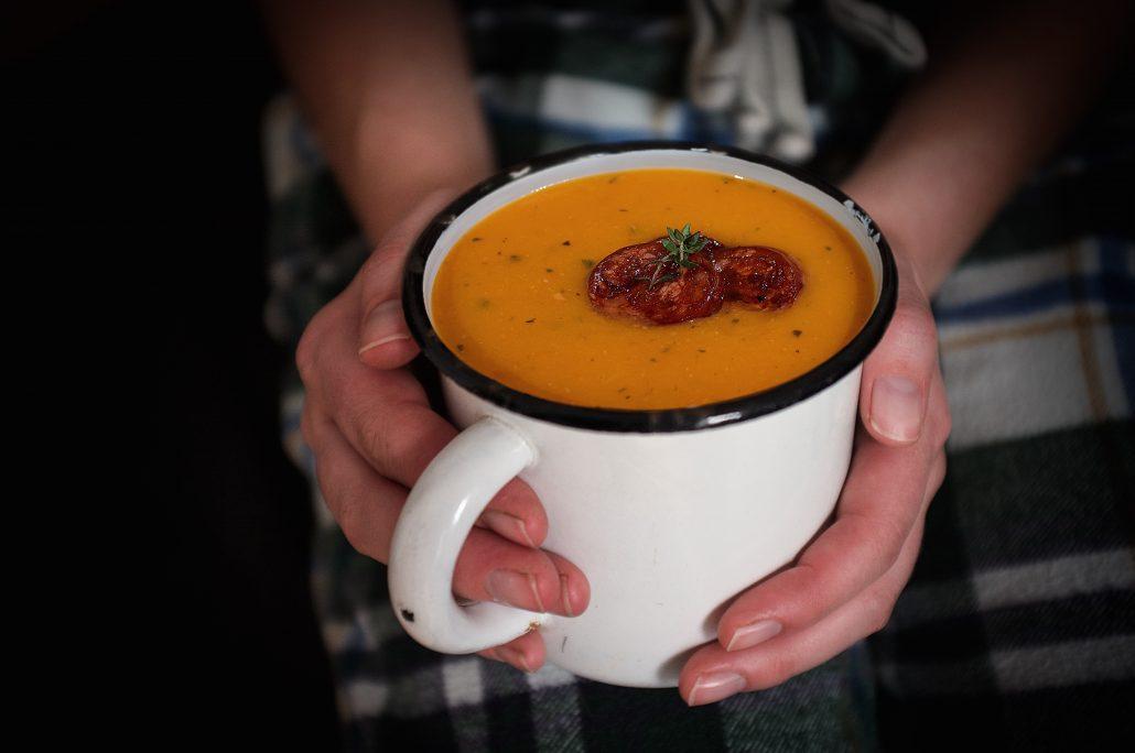 butternut chorizo sage soup