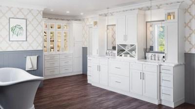Bathroom Shaker White - Kitchen Envy Cabinets