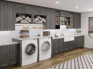 Laundry Room Cabinets Shaker Cinder - Kitchen Envy Cabinets