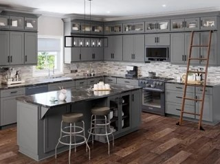 Shaker Grey Kitchen Cabinets - Kitchen Envy Cabinets