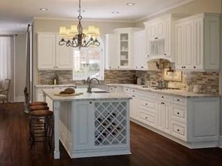 Framed Antique White Kitchen Cabinets - Kitchen Envy Cabinets