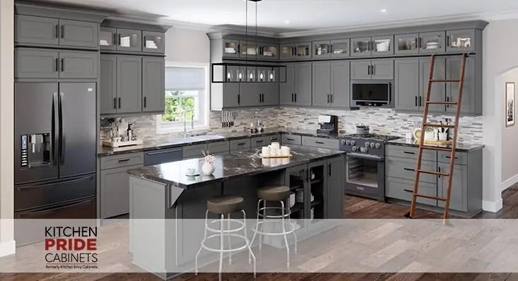 Shaker Gray Kitchen - Kitchen Envy Cabinets