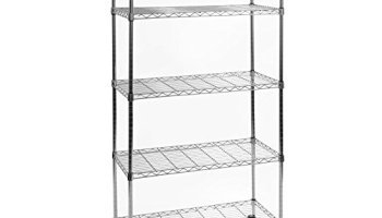 Seville Wire Shelving Accessories | Seville Classics 4 Tier Iron Square Tower Shelving Satin Pewter