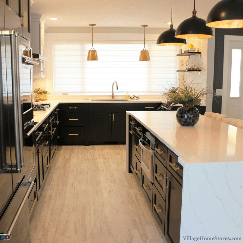 Quad Cities Black White And Gold Kitchen Remodel Village