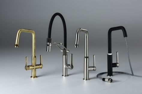 Abode Hex Industrial Style Mixer Tap