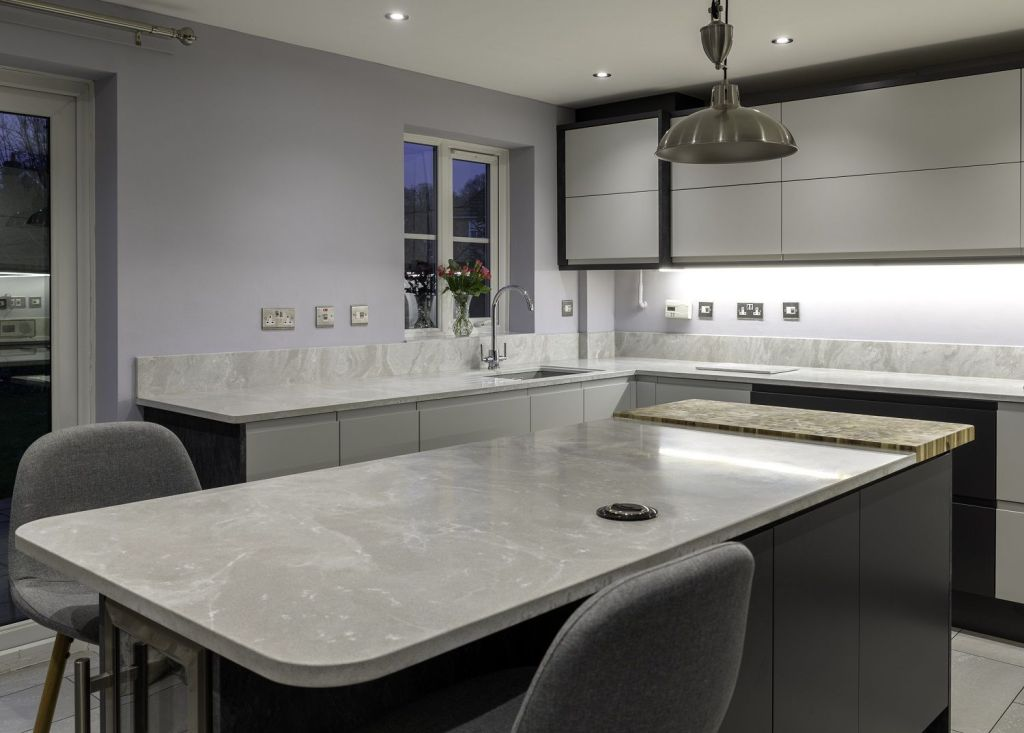 Mistral Moonscape' Projects the MISTRAL range of 25mm solid surfacing Karonia_