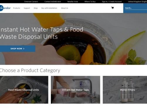 InSinkErator® website new