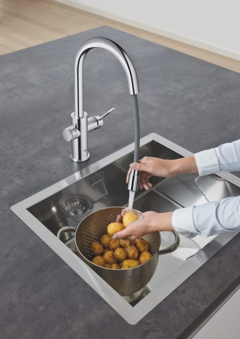 GROHE Blue helps use less plastic