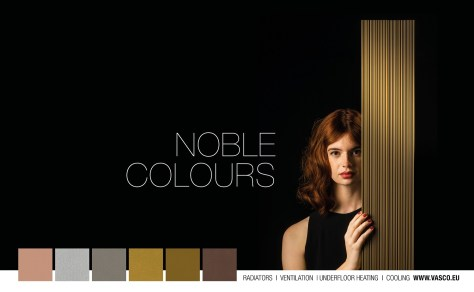 Noble colours heating bronze