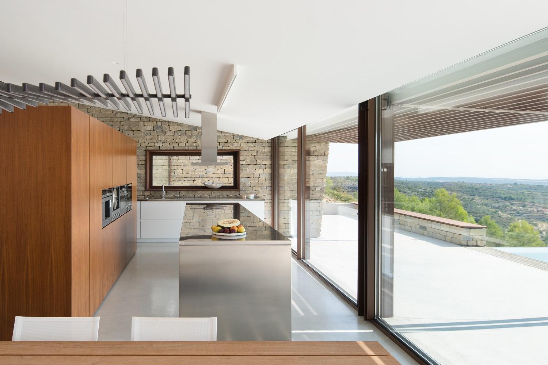 La Palometa case study homes kitchen with a view