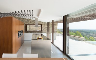 La Palometa case study homes kitchen with a view
