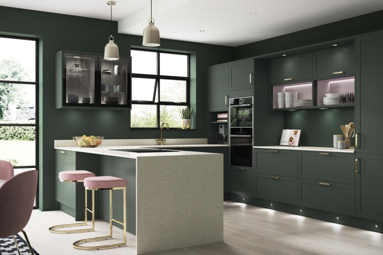 Kitchen Trends Wickes Chester Forest Green